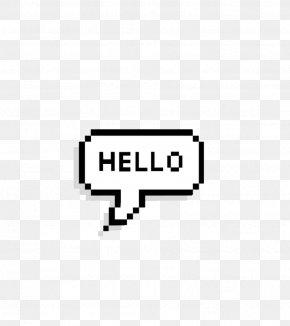 Hello - Speech Balloon Text We Heart It PNG