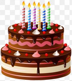 Chocolate Cake - Birthday Cake Nephew And Niece Wish Greeting Card PNG