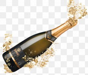 Champagne Popping - Champagne Wine Pinot Noir Bottle PNG