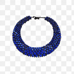 NECKLACE - Necklace Jewellery Earring Sapphire Blue PNG