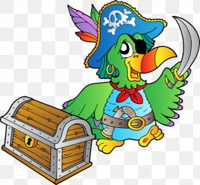 Parrot - Pirate Parrot Piracy Buried Treasure PNG