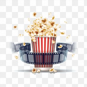 Popcorn And Film - Popcorn Film Stock Illustration Cinema PNG