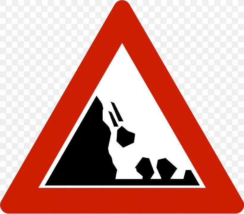 Warning Sign Landslide Traffic Sign Hazard, PNG, 1167x1024px, Warning Sign, Area, Brand, Dating, Gebotszeichen Download Free