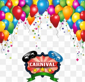Color Carnival Balloon Background Vector - Carnival Of Venice Balloon Mask PNG