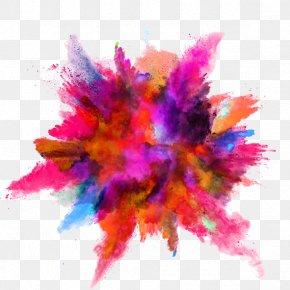 Color Ink Splash - Color Powder Explosion PNG