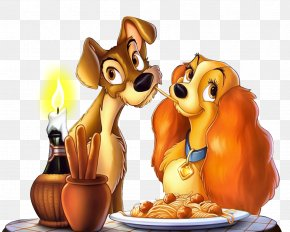 Lady And The Tramp Clipart Picture - Spaghetti With Meatballs Pasta Italian Cuisine PNG