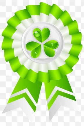 St Patricks Day Seal With Shamrock Transparent PNG Clip Art Image - Saint Patrick's Day Irish People Clip Art PNG