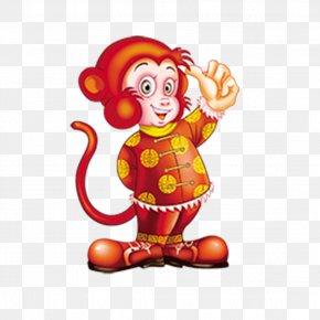 Monkey Mascot Material - Monkey Chinese New Year Chinese Zodiac New Years Day PNG