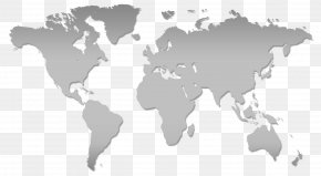World Map - World Map Globe Blank Map PNG