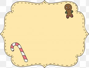 Christmas Gingerbread Man Text Label Border - Christmas Decoration Text Gingerbread Man PNG