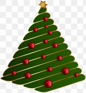 Xmas Tree Transparent Clip Art Image - Christmas Tree Santa Claus PNG