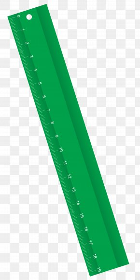 Green Ruler Clipart Image - Green Angle Font PNG