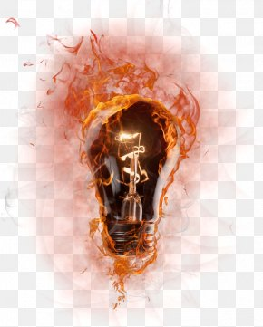 Flame Bulb - Light Flame PNG