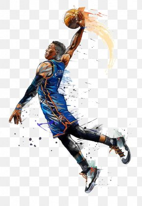 Hand-painted Basketball Player - NBA All-Star Game Oklahoma City Thunder Basketball NBA Most Valuable Player Award PNG