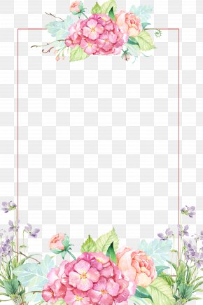 Beautiful Flower Borders - Flower Clip Art PNG