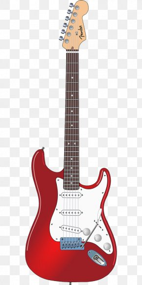 Red Electric Guitar - Fender Stratocaster Fender Bullet Gibson Les Paul Guitar The STRAT PNG