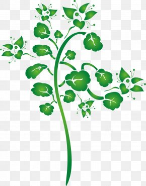 Hand Painted Green Flowers - Leaf Green Clip Art PNG