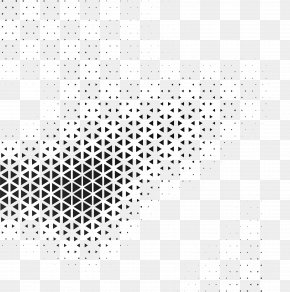 Technology Triangle Cover - Black And White Geometry Geometric Abstraction Pattern PNG