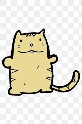 Lazy Fat Cat - Cat Whiskers Cartoon Clip Art PNG