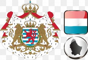 Luxembourg Vector Flag Emblem Element - Luxembourg City Coat Of Arms Of Luxembourg Flag Of Luxembourg National Symbols Of Luxembourg PNG