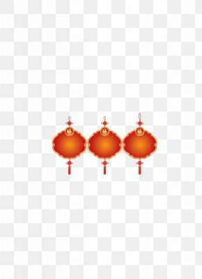 Chinese New Year Red Lanterns Decorated HD Free Matting Material - Lantern Festival Chinese New Year High-definition Television PNG
