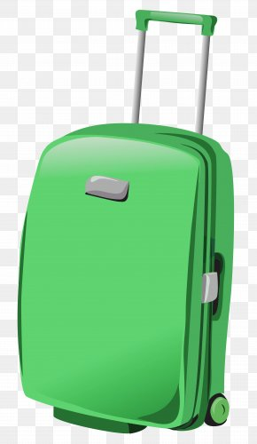 Green Suitcase Clipart - Suitcase Baggage Travel Clip Art PNG