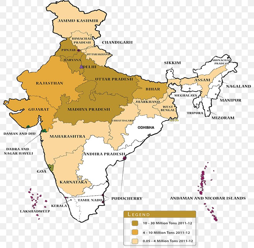 States And Territories Of India Agriculture Wheat Production ...