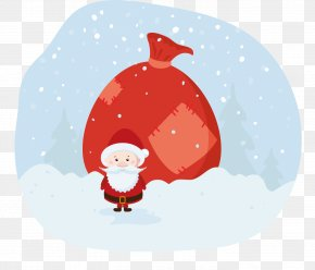 Santa Claus Gift Bags - Santa Claus Bag PNG
