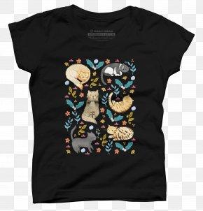 Cat Lover T Shirt - T-shirt Hoodie Cat Outerwear Sleeve PNG