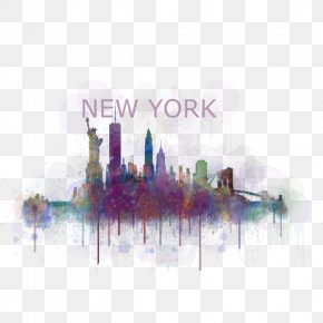 New York City - Rome York Street Augusta New York City Watercolor Painting PNG