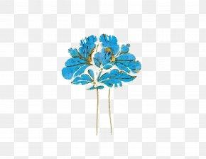 Antique Gold Blue Hair Accessories - Blue Barrette Gold PNG