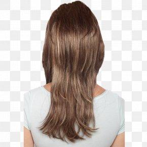 Golden Graduation Cap - Long Hair Hairstyle Hair Coloring Wig PNG