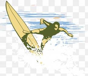 Surfing Vector Element - Euclidean Vector Illustration PNG