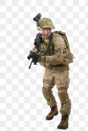 Soldier - Operation Enduring Freedom Military United States Army Improved Outer Tactical Vest Operational Camouflage Pattern PNG