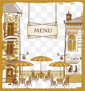 Restaurant Menu Cover Design Material - Cafe Menu Cartoon Restaurant PNG