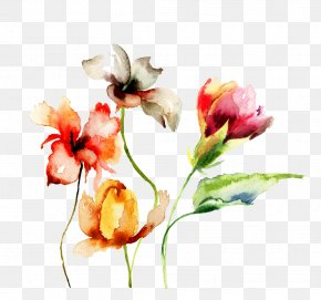 Watercolor Flowers - Paper Watercolor Painting Drawing Flower PNG