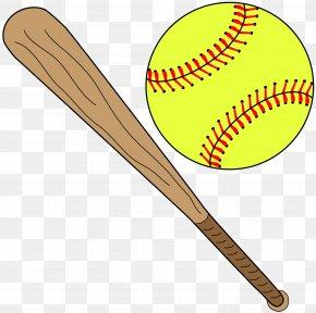 Softball - Softball Baseball Bat Batting Clip Art PNG