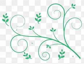 Leaf Swirl - Floral Design Art Clip Art PNG