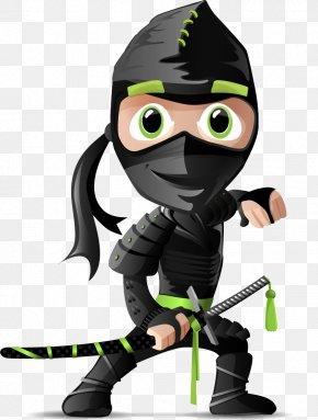 Vector Painted Masked Ninja - Ninja Shuriken Clip Art PNG