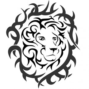 Lion Head Picture - Lion Tattoo Drawing Flash Visual Arts PNG