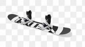 Black And White Skateboard And Skateboard Shoes, Buckle-free Material - Texture Mapping Sports Equipment Snowboard PNG