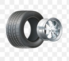 Car - Car Tire Wheel And Axle Rim PNG