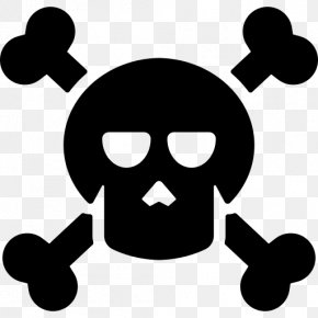Skull And Crossbones Icons - Death Vector Graphics Image Illustration PNG