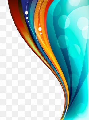 Color Floating Curve - Abstract Art Color PNG