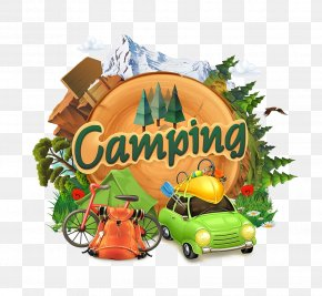 Outdoor Camping - Camping Adventure Illustration PNG