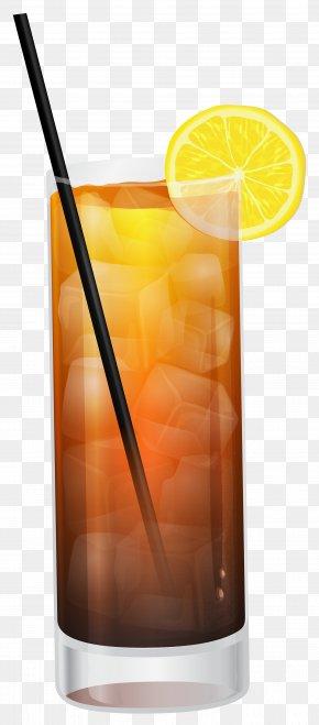 Cola With Lemon Clipart Image - Cocktail Garnish Cola Clip Art PNG