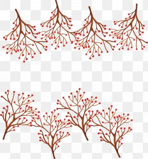 Red Wild Fruit Branches - Fruit Clip Art PNG