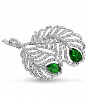 Emerald - Jewellery Brooch Cubic Zirconia Bling-bling Emerald PNG