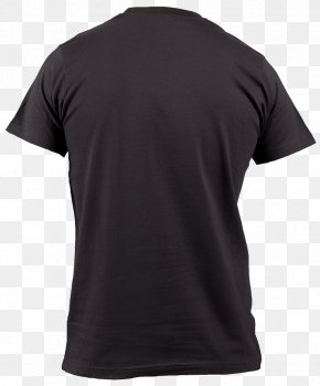 Black T-shirt Image - T-shirt Neckline Sleeve Jersey PNG