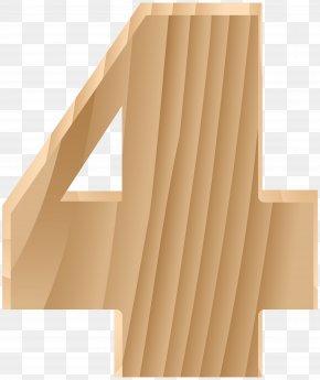 Wooden Number Four Transparent Clip Art Image - Design Graphics Clip Art PNG